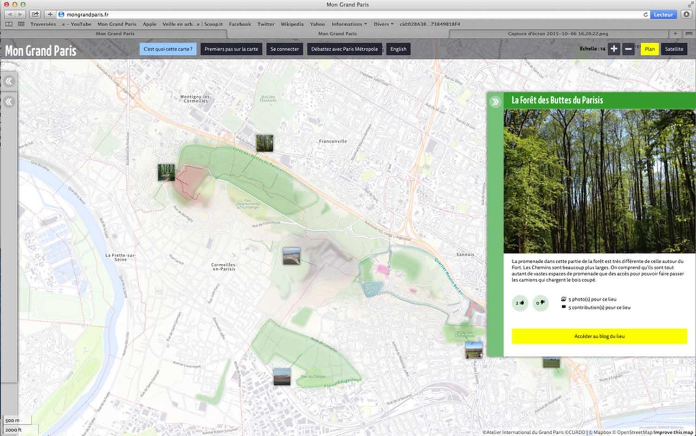Carte mon grand paris zoom Buttes du Parisis
