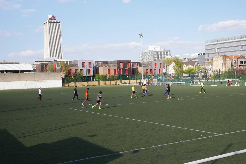 Match au pied de la tour Pleyel © GONGLE, Cuesta
