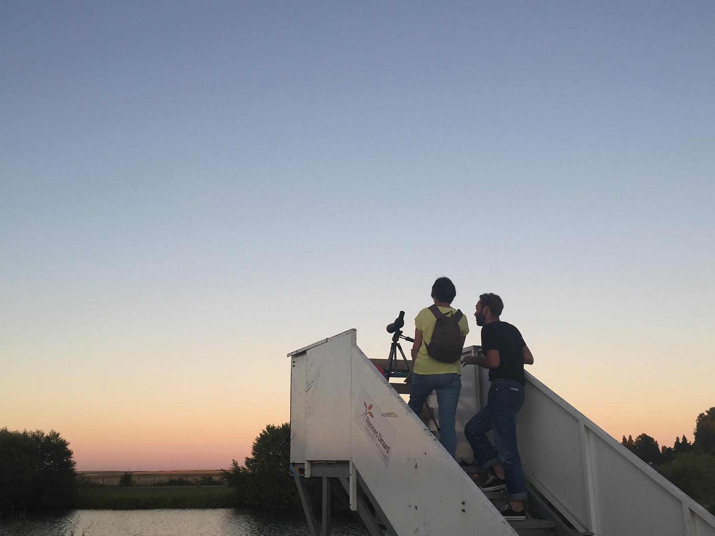 Vue du pont d'embarquement installé à l'occasion de la traversée du secteur nord pour voir les avions décoller © Nicolas Joubard