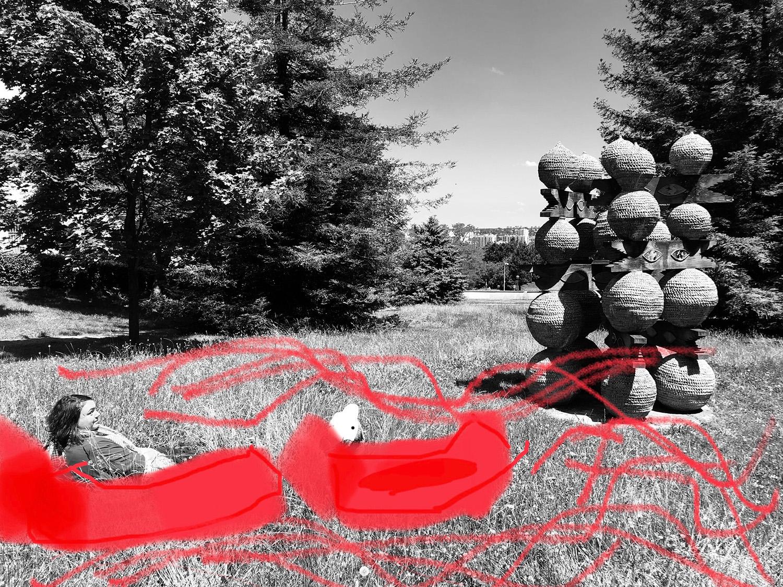 Faire du canoé face à la molette #ParcdesHauteurs #Rosnysousbois #EstEnsemble #PlateauPhoto