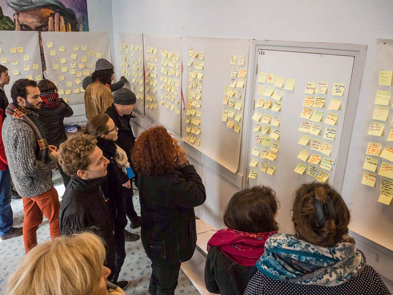 Hackathon Lucioles, brainstorming collectif © IDLV